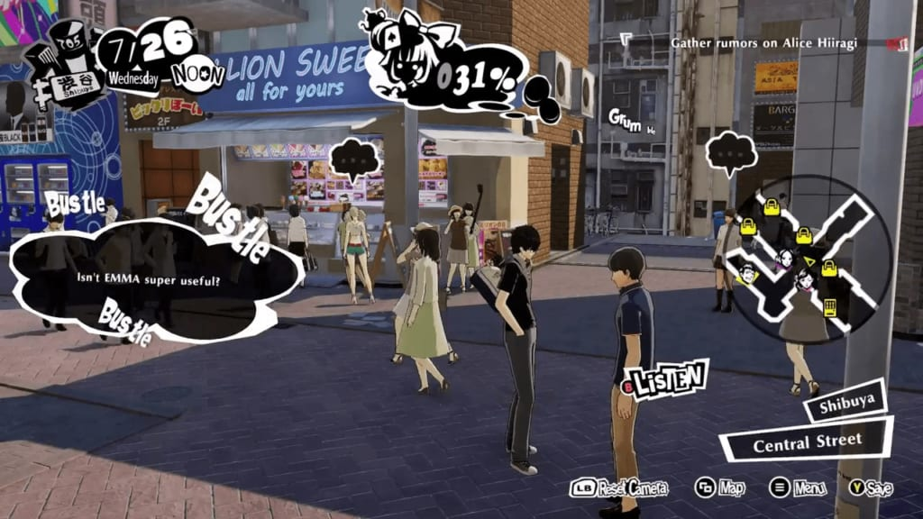 Persona 5 Strikers - Shibuya Intel Rumor Gathering Location Passionate Young Man