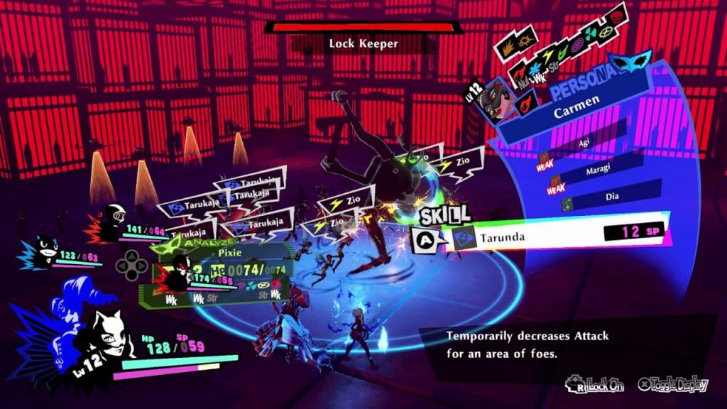 Persona 5 Strikers - Shibuya Jail Lock Keeper Axe Cast Debuffs