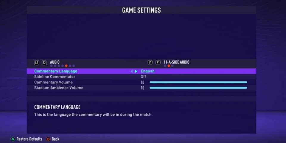 FIFA 21 - How to Change Commentary Language