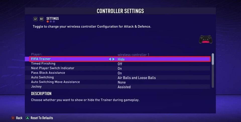 FIFA 21 - How to Turn Off Trainer