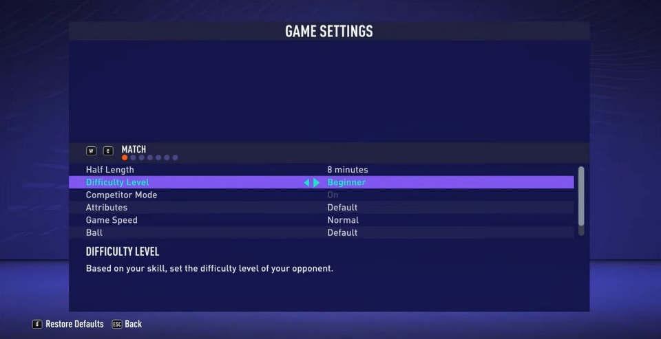 FIFA 21 - How to Change Difficulty