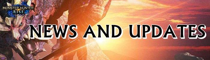 Monster Hunter Rise - News and Updates Banner