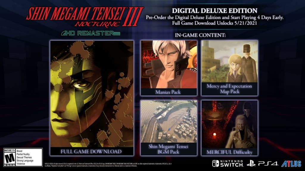Shin Megami Tensei III: Nocturne HD Remaster - Digital Deluxe Edition