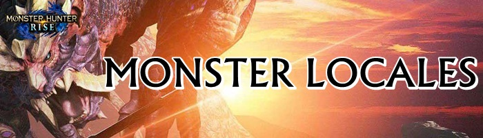 Monster Hunter Rise - Monster Locales Banner