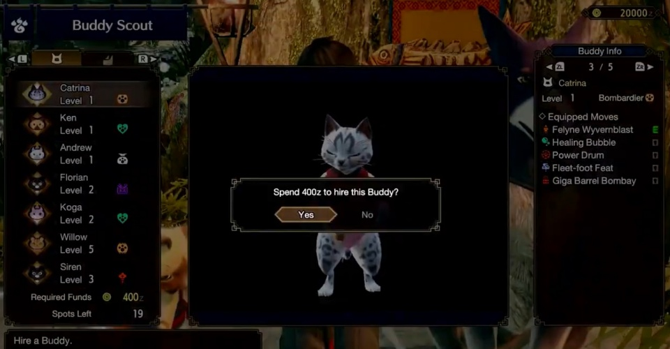 Monster Hunter Rise - How to Reroll Buddy Skills