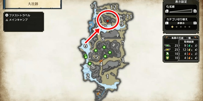 Monster Hunter Rise - Shrine Ruins Sub Camp Locations