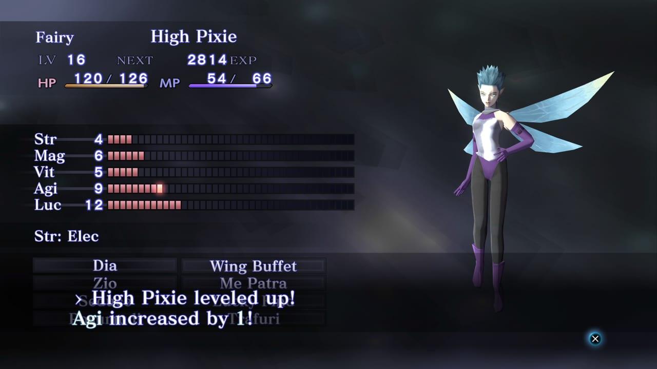 Shin Megami Tensei III: Nocturne HD Remaster - Demon Stats