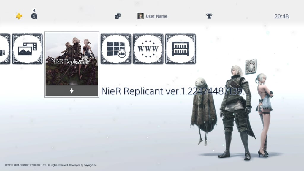 Nier Replicant Remaster - First Print Edition Dynamic Theme