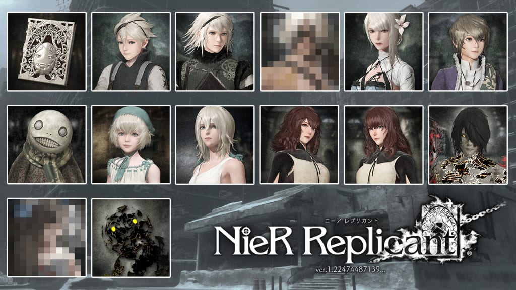 Nier Replicant Remaster - First Print Edition Avatar Set