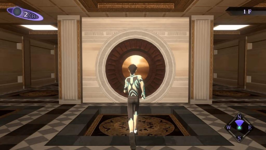 Shin Megami Tensei III: Nocturne HD Remaster - Labyrinth of Amala Deep Zone First Kalpa 1F Central Area Center Door