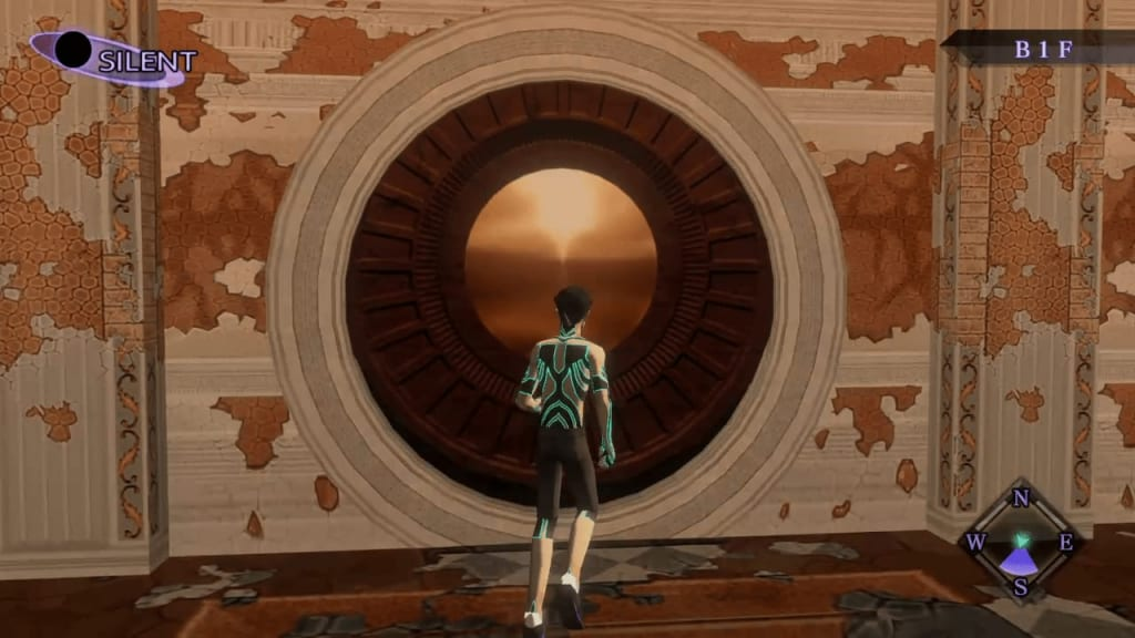 Shin Megami Tensei III: Nocturne HD Remaster - Labyrinth of Amala Deep Zone Second Kalpa West Wall Center Middle Door