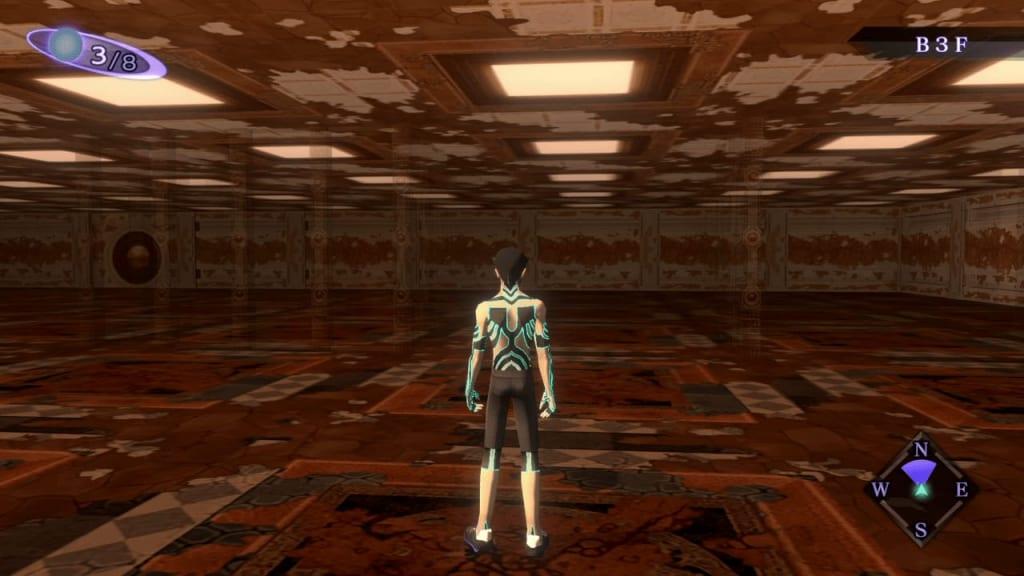 Shin Megami Tensei III: Nocturne HD Remaster - Labyrinth of Amala Deep Zone Second Kalpa B3F Middle Area First Maze Panel 1