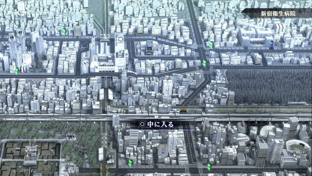 Shin Megami Tensei III: Nocturne HD Remaster - Yoyogi Park Entrance Map Location