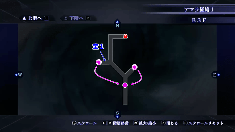 Shin Megami Tensei III: Nocturne HD Remaster - Amala Network B3F Map