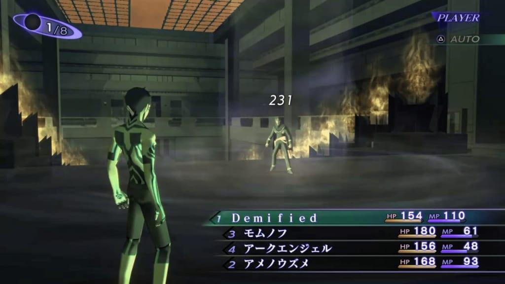 Shin Megami Tensei III: Nocturne HD Remaster - Raidou Mantra HQ Demon Boss Use Force Attacks