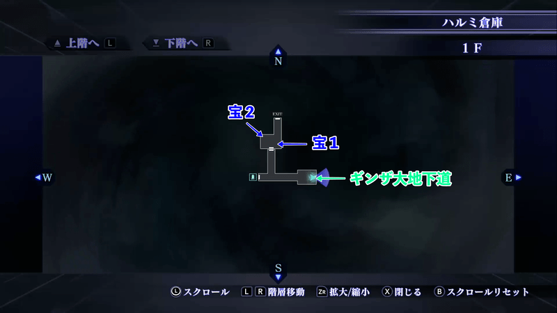 Shin Megami Tensei III: Nocturne HD Remaster - Harumi Warehouse 1F Map