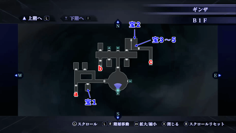 Shin Megami Tensei III: Nocturne HD Remaster - Ginza B1F Map