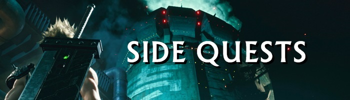 Final Fantasy 7 Remake Intergrade - Side Quests Banner