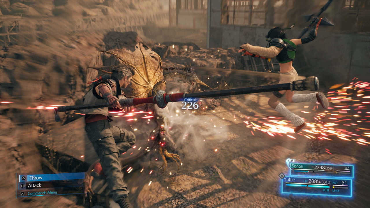 Final Fantasy 7 Remake Intergrade Sonon and Yuffie Attack
