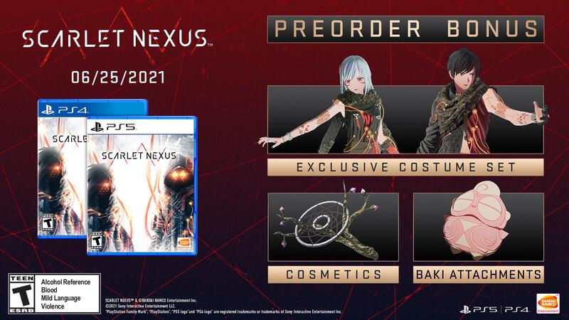 Scarlet Nexus - Pre-order Bonuses