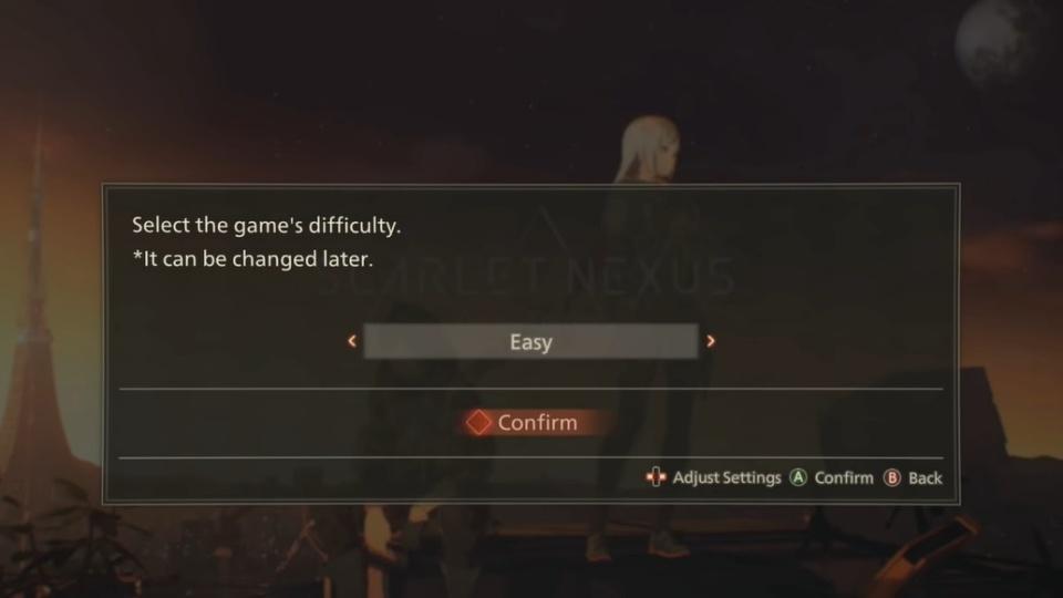 Scarlet Nexus - Game Difficulty