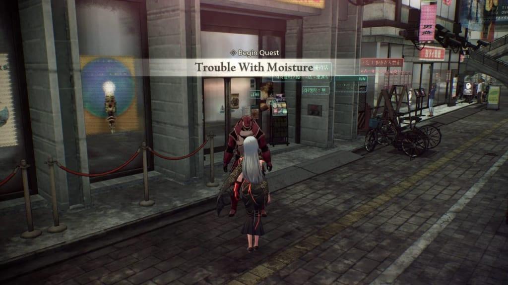 Scarlet Nexus - Trouble with Moisture Quest
