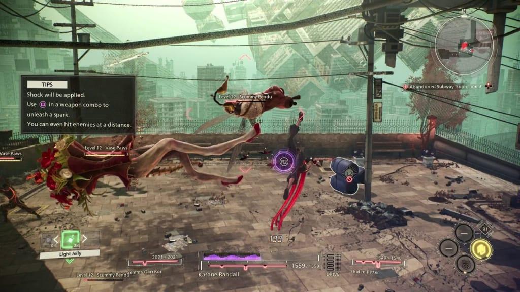 Scarlet Nexus - Surprise Test! Quest Use Mid-Air Attacks