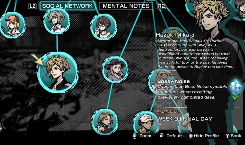 NEO: The World Ends With You - Hazuki Mikagi Social Network Node