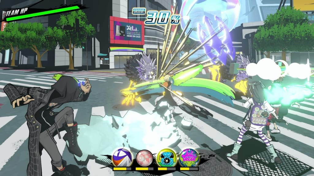 NEO: The World Ends with You - Game Overview Battle System Party