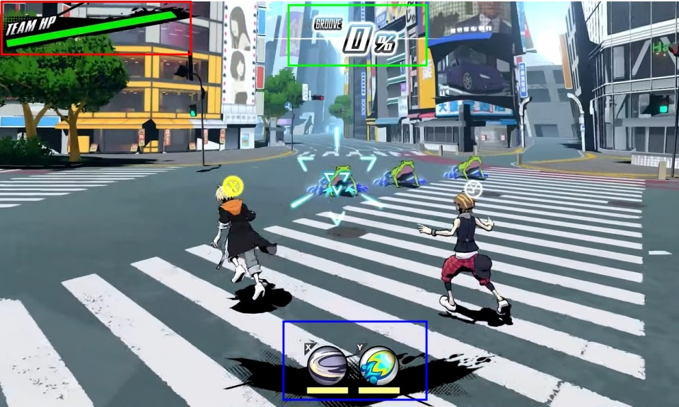 NEO: The World Ends With You - Battle Screen