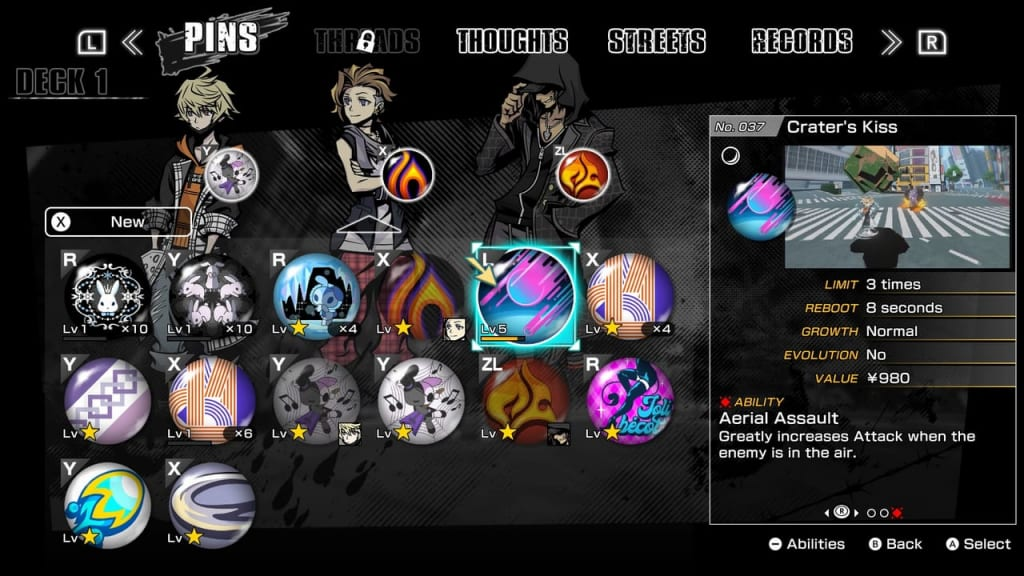 NEO: The World Ends with You - All Best Pins to Acquire and Level