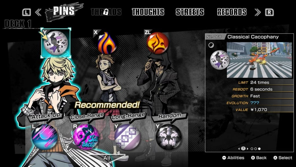 NEO: The World Ends with You - Best Pins Classical Cacophany