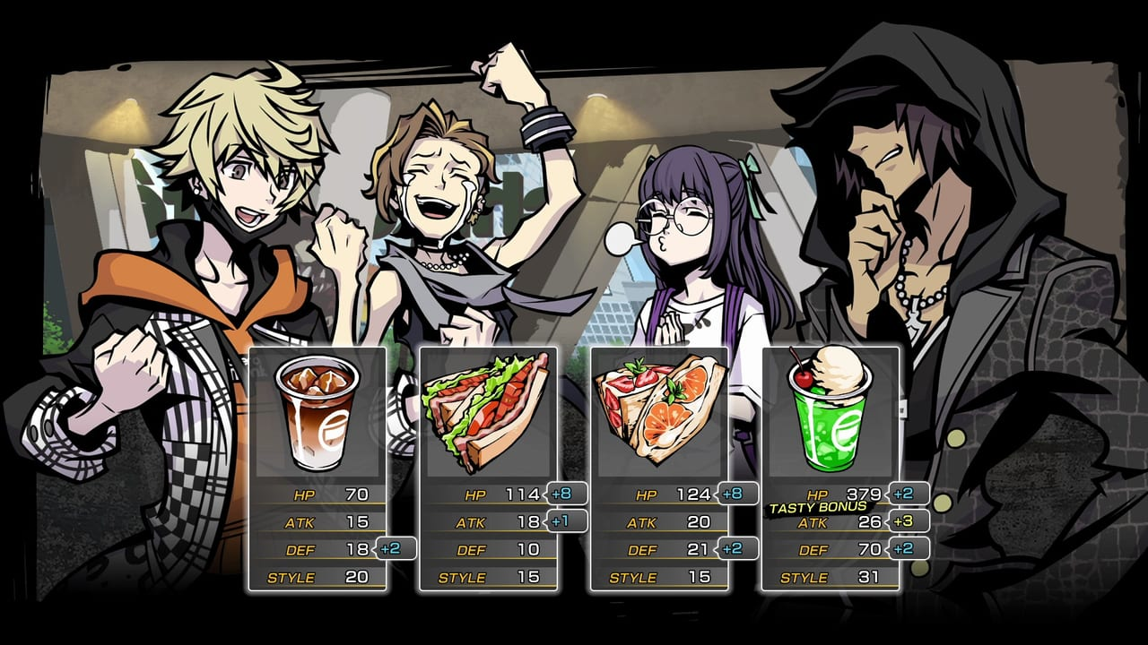NEO: The World Ends with You Food-List