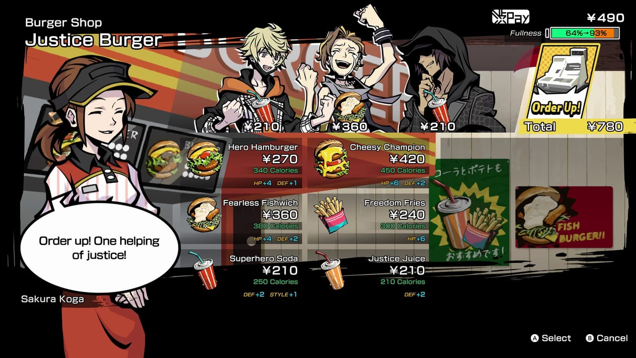 NEO: The World Ends with You - Best Food for each Character