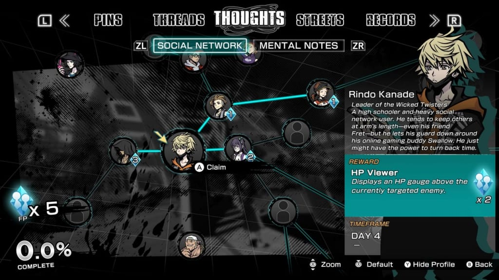 NEO: The World Ends with You - Social Network Rindo