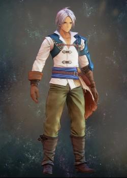 Tales of Arise - Alphen Ocean Blue Battle Garb Costume Outfit