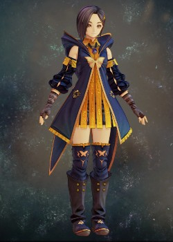 Tales of Arise - Rinwell Blue Inherited Coat Costume Outfit
