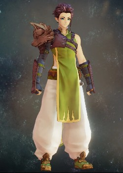 Tales of Arise - Law Green Wolf Vest Costume Outfit