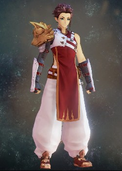 Tales of Arise - Law Red-White Wolf Vest Costume Outfit