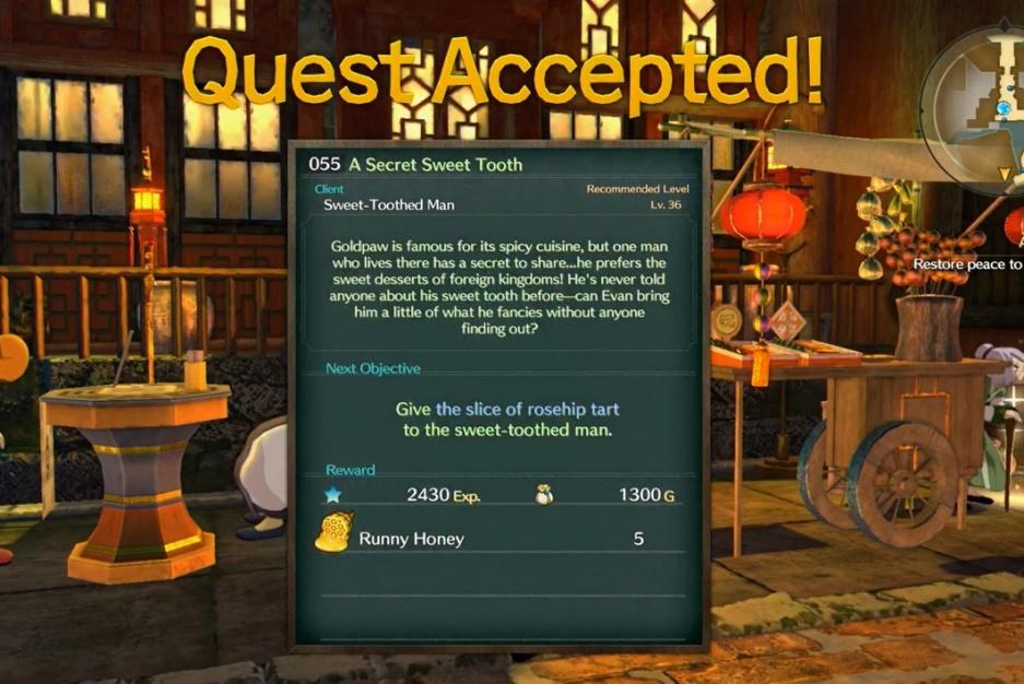 Ni no Kuni 2: Revenant Kingdom - Side Quest 055: A Secret Sweet Tooth Walkthrough