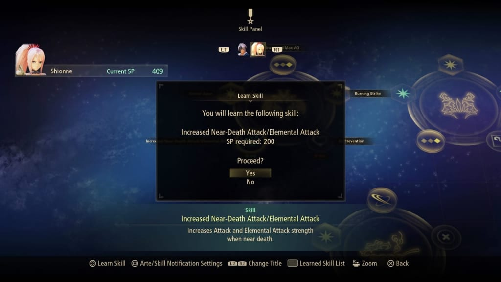 Tales of Arise - Learn New Title Skill