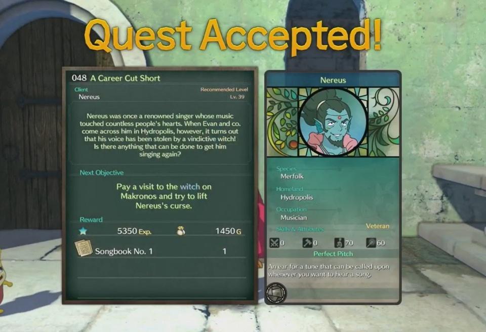 Ni no Kuni 2: Revenant Kingdom - Side Quest 048: A Career Cut Short