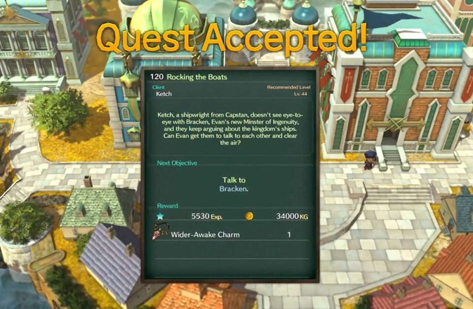 Ni no Kuni 2: Revenant Kingdom - Side Quest 120: Rocking the Boats