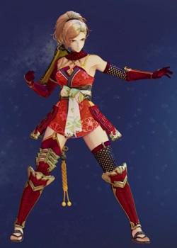 Tales of Arise - Kisara Female Samurai Armor B Costume Outfit