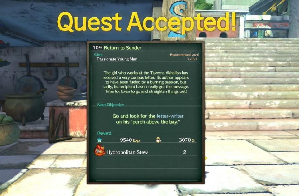 Ni no Kuni 2: Revenant Kingdom - Side Quest 109: Return to Sender