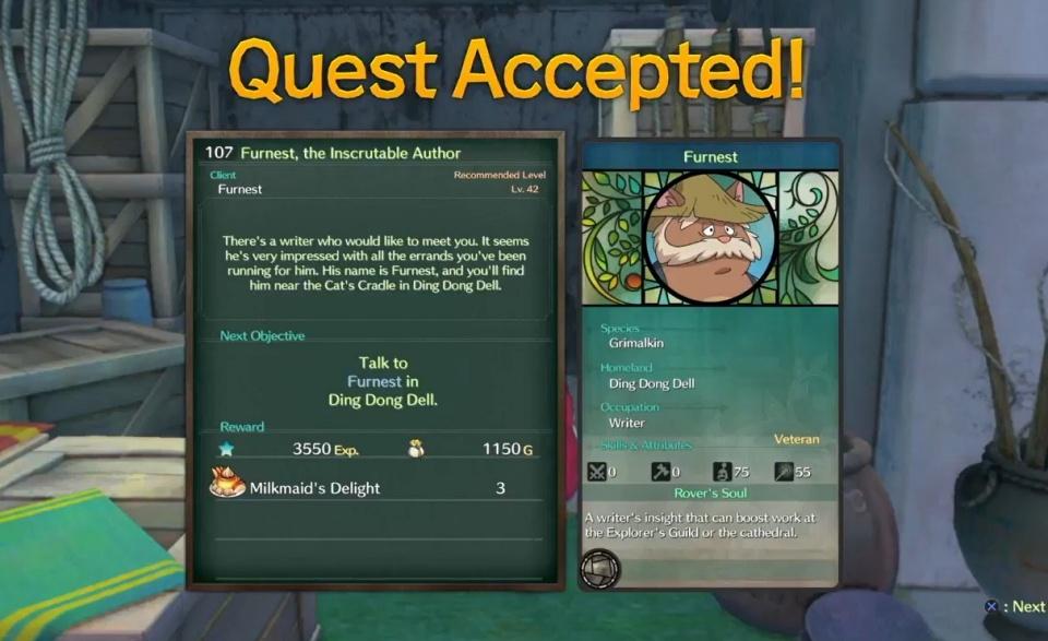 Ni no Kuni 2: Revenant Kingdom - Side Quest 107: Furnest , the Inscrutable Writer