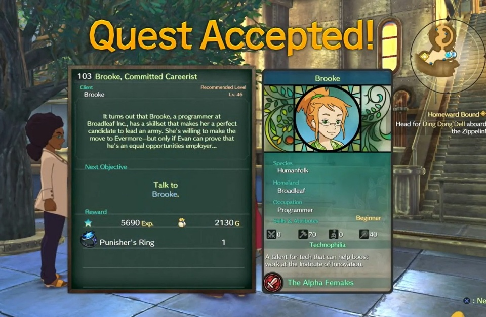 Ni no Kuni 2: Revenant Kingdom - Side Quest 103: Brooke, the Committed Careerist
