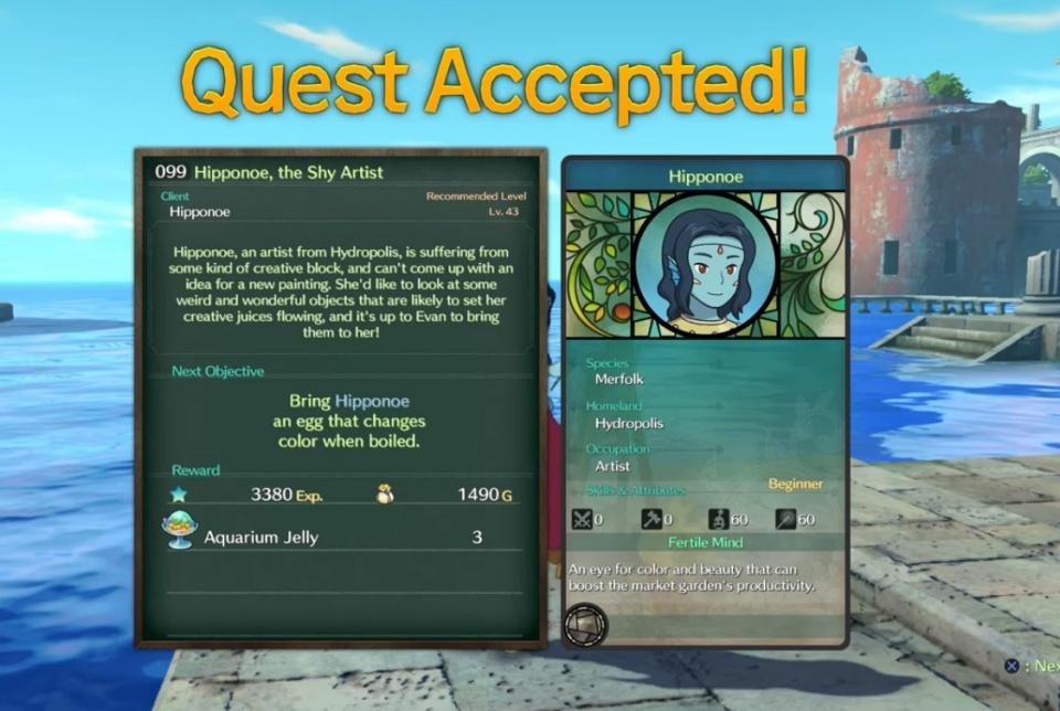 Ni no Kuni 2: Revenant Kingdom - Side Quest 099: Hipponoe, the Shy Artist