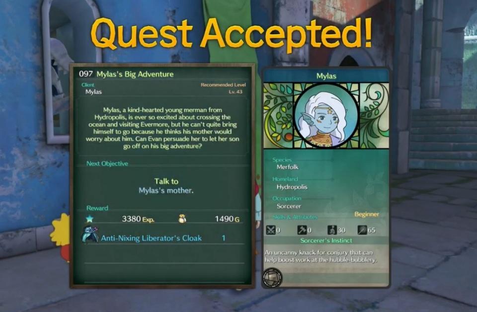 Ni no Kuni 2: Revenant Kingdom - Side Quest 097: Mylas' Big Adventure