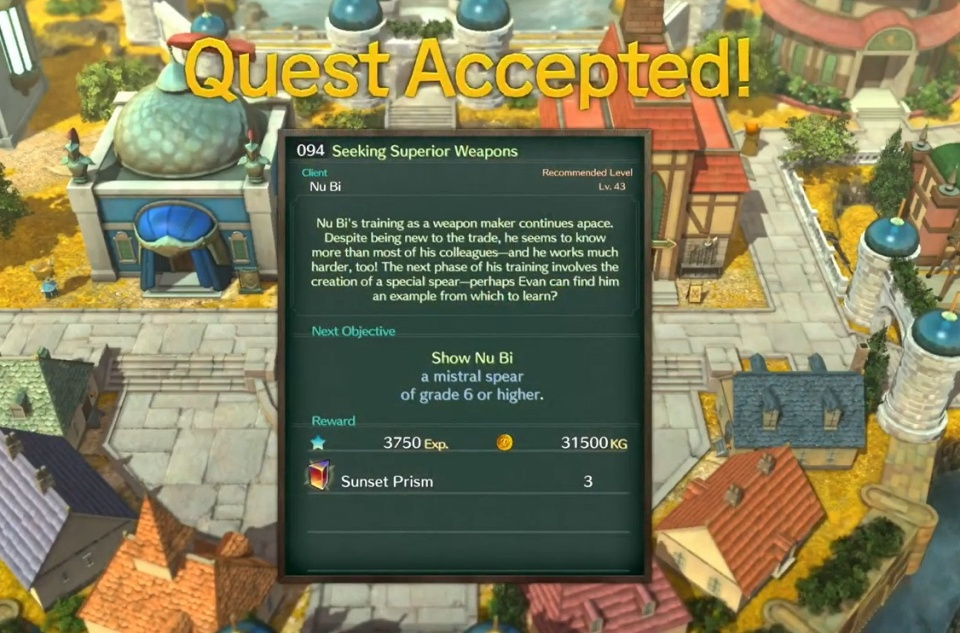 Ni no Kuni 2: Revenant Kingdom - Side Quest 094: Seeking Superior Weapons